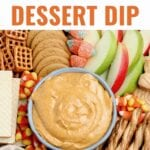 Pumpkin Dip is a deliciously creamy dessert that tastes like pumpkin pie without the crust! This Pumpkin Dip recipe is perfect served with cookies or fruit.
