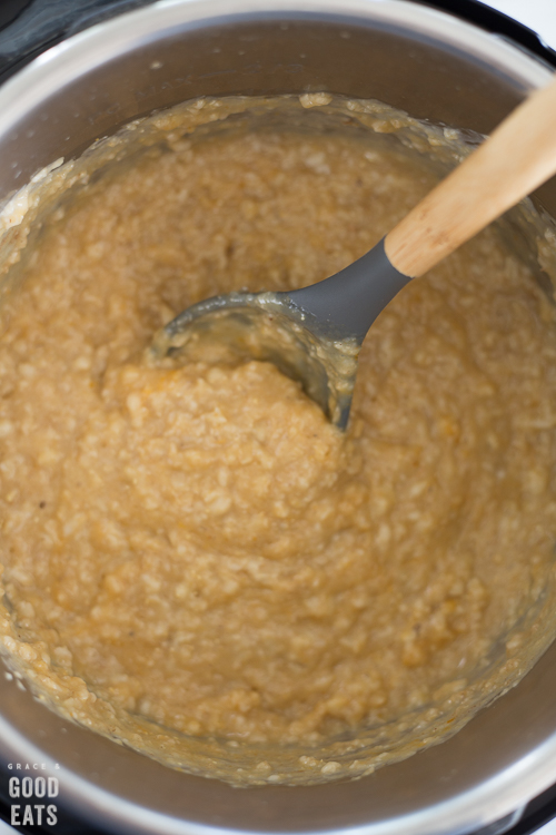 pumpkin oatmeal in an Instant Pot