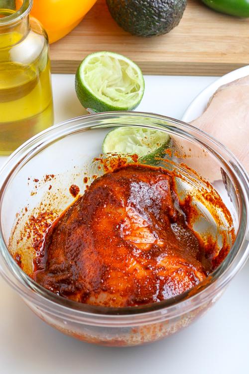 chicken breast tossed with seasonings