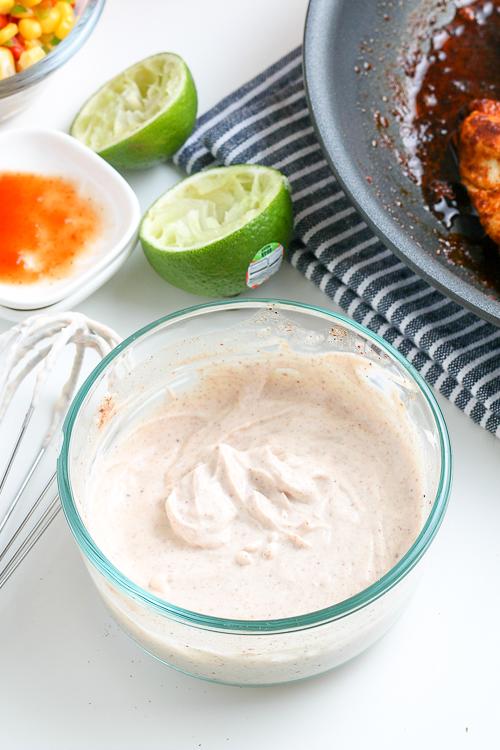 bowl of creamy white sauce